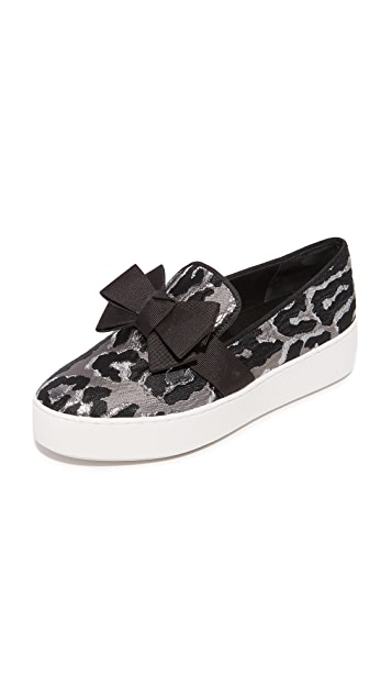 Michael Kors Collection Val Platform Slip On Sneakers