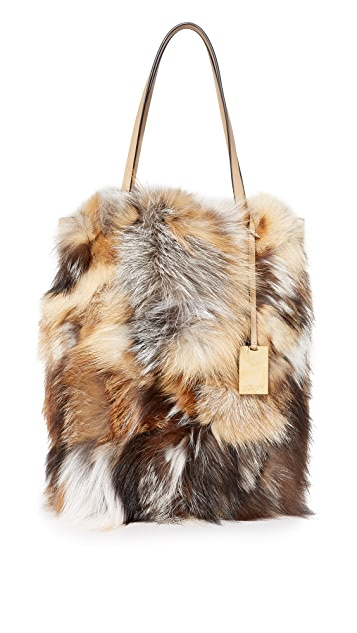 a2ad4a3adfb9 Michael Kors Collection Eleanor Fur Tote | SHOPBOP