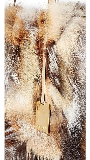 Michael Kors Collection Eleanor Fur Tote