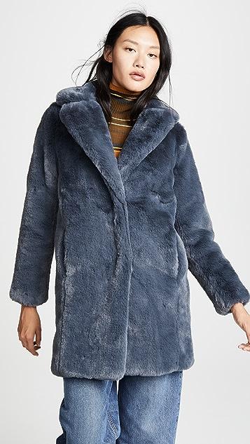 MKT Studio Marili Faux Fur Coat
