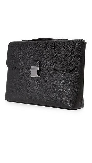 Michael Kors Bryant Pebbled Large Briefcase Messenger