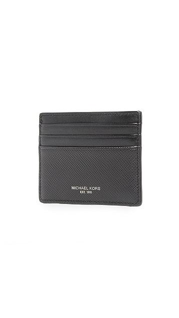 Michael Kors Harrison Leather Tall Card Case