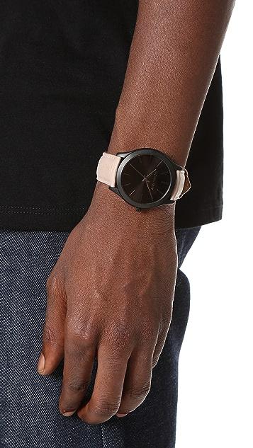 Michael Kors Slim Runway Leather Watch