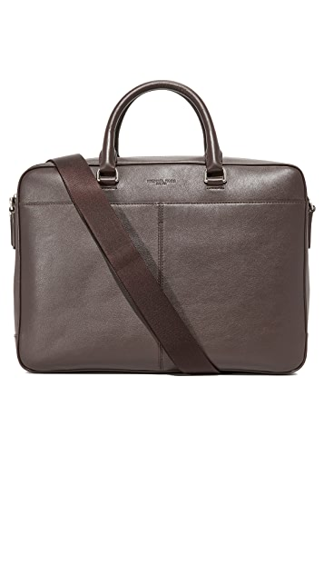 f597c2878e73 Michael Kors Odin Leather Large Briefcase