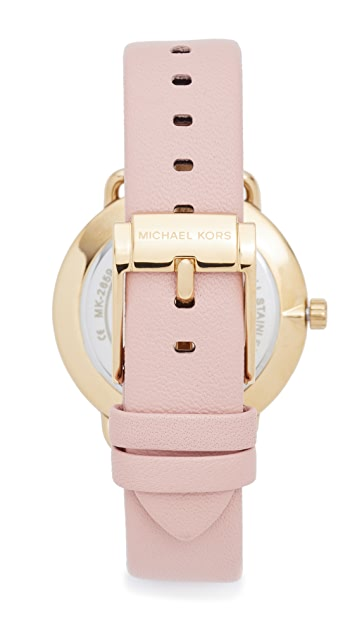 Michael Kors Partia Leather Watch