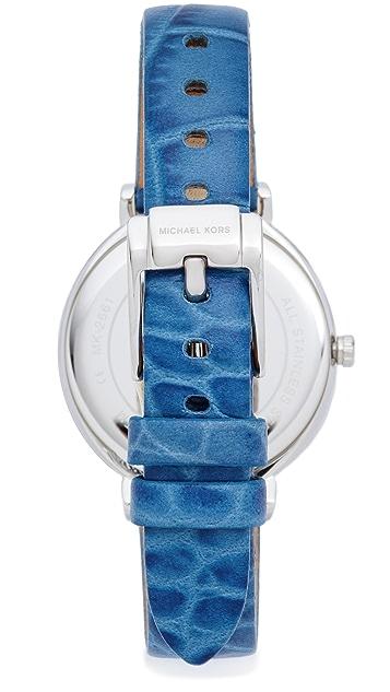 Michael Kors Cinthia Leather Watch
