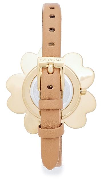 Michael Kors Mena Leather Watch
