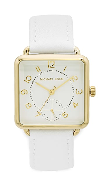 Michael Kors Brenner Leather Watch