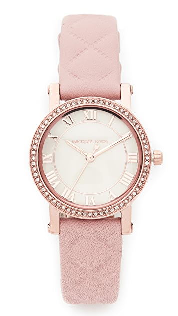 Michael Kors Petite Norie Leather Watch