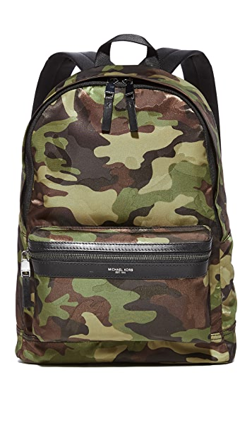 0f56fa74f621 Michael Kors Kent Camo Nylon Backpack