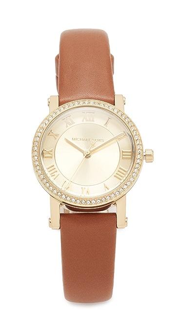 Michael Kors Petitie Norie Leather Watch