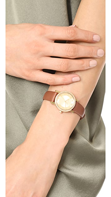 Michael Kors Petitie Norie Leather Watch