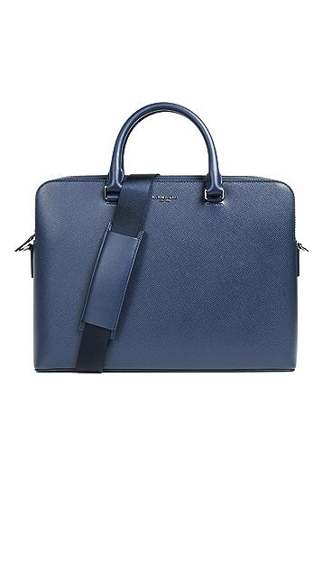 Michael Kors Harrison Double Pocket Leather Briefcase