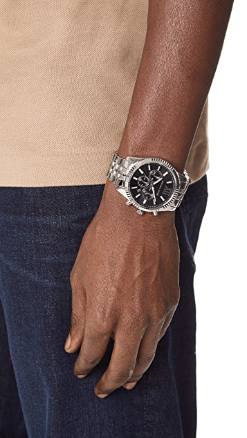 Michael Kors Lexington Stainless Steel Watch, 44mm