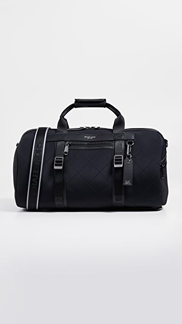 b7452e26b8bfe4 Michael Kors Odin Neoprene Convertible Duffel Backpack | EAST DANE