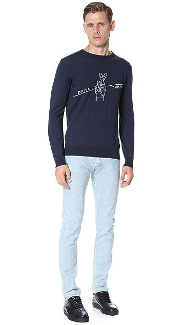 Monsieur Lacenaire Monsieur Lacenaire X White Mountaineering Paris Tokyo Sweater