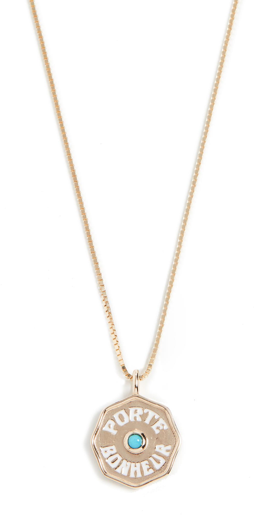 14k Mini Pb Coin Necklace