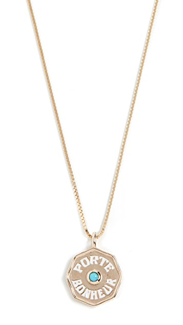 Marlo Laz 14k Mini Pb Coin Necklace