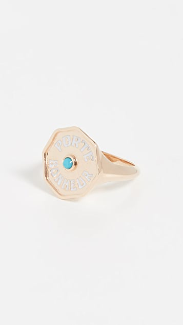 Marlo Laz 14k Yellow Gold PB Signet Ring