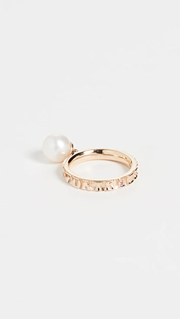 Marlo Laz 14k Yellow Gold Dancing Freshwater Cultured Pearl Ring