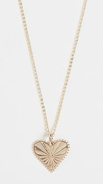 Marlo Laz 14k Mini Pour Toujours Heart Coin Necklace