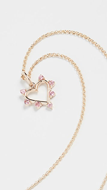 Marlo Laz 14k Mini Open Heart Necklace