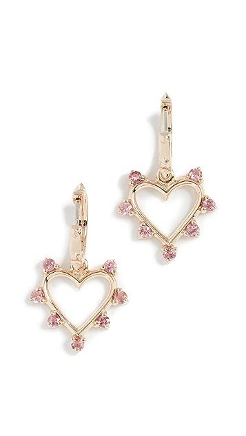 Marlo Laz 14k Yellow Gold Mini Open Heart Earrings