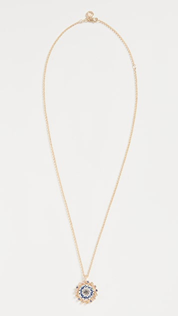 Marlo Laz 14k Mini Mandalla Tie Dye Necklace