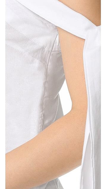 MLM LABEL Asymmetrical Tie Top