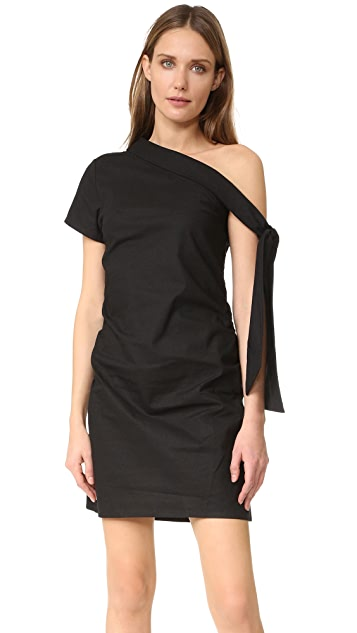 MLM LABEL Asymmetrical Tie Dress