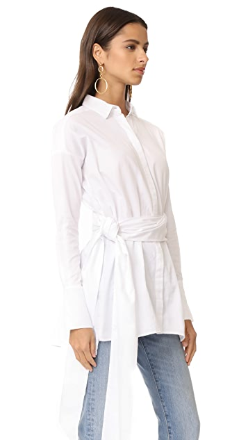 MLM LABEL Abyss Shirtdress with Tie