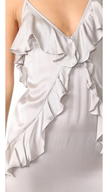 MLM LABEL Ruffle Slip Dress