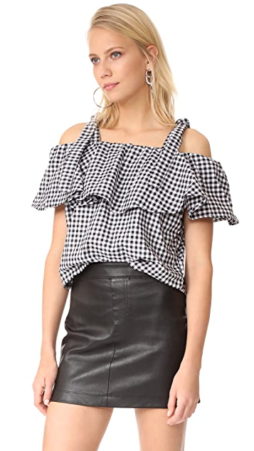 MLM LABEL Tobin Ruffle Top
