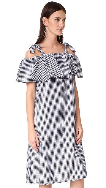 MLM LABEL Tobin Ruffle Midi Dress