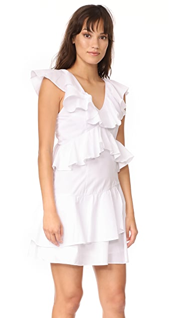 MLM LABEL Charm Poplin Ruffle Dress