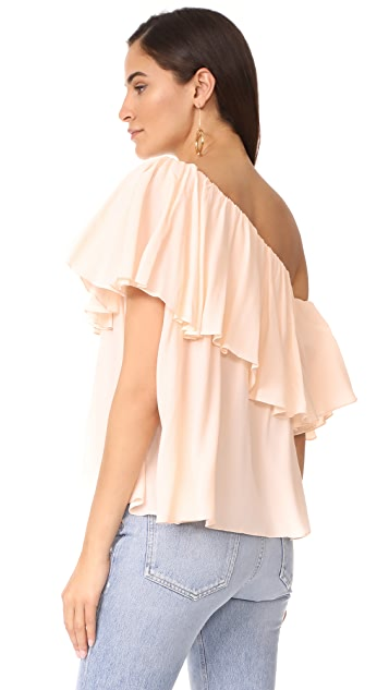 MLM LABEL One Shoulder Maison Top
