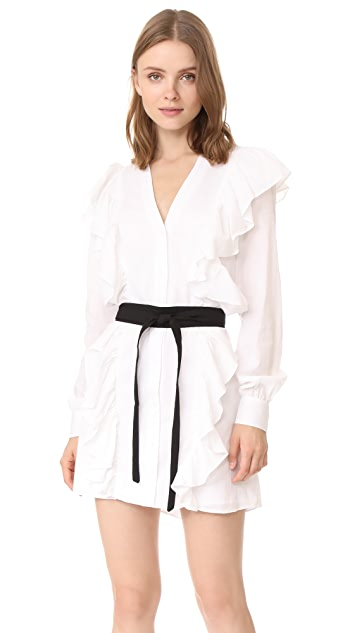 MLM LABEL Miller Ruffle Shirtdress