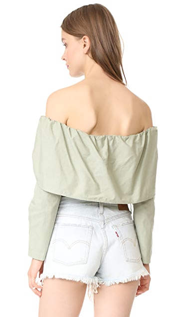 MLM LABEL Bale Shoulder Top