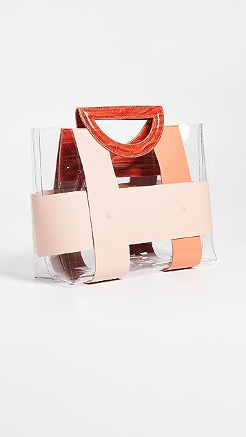 Mlouye 小号棋子方格手提袋