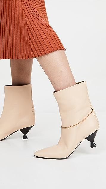 Maria Luca 高跟低筒靴