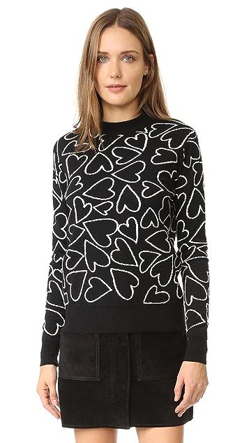 Markus Lupfer Heart Scribble Natalie Sweater