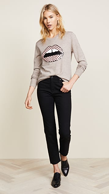 Markus Lupfer Sequin Heart Lara Lip Natalie Sweater
