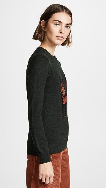 Markus Lupfer Mia Standing Fox Sweater