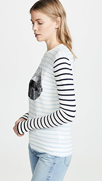 Markus Lupfer Mia Breton Metallic Lip Sweater