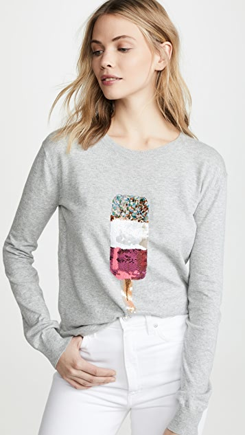 Markus Lupfer Natalie Popsicle Sequin Sweater