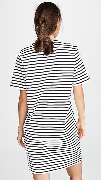 Markus Lupfer Alex Sequin Lip Stripe Dress