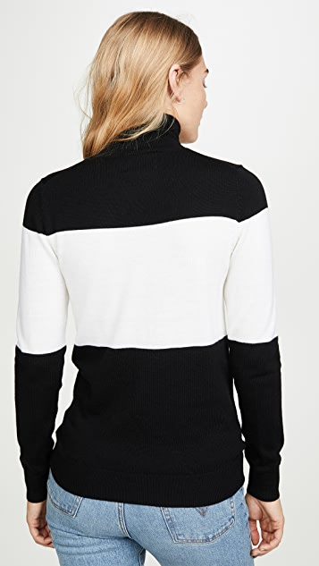 Markus Lupfer Emma Sequin Lip Rollneck Sweater