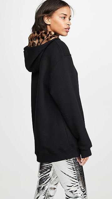 Markus Lupfer Erin 豹纹仿皮毛连帽上衣