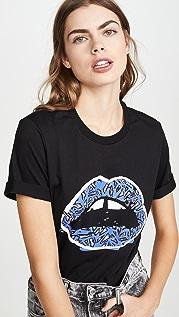 Markus Lupfer Alex Geo Giraffe Lip T 恤