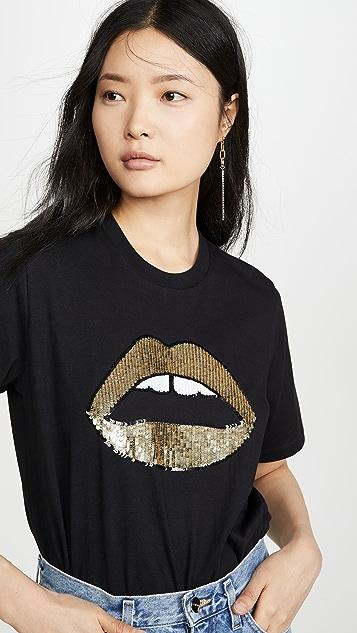 Markus Lupfer Alex Sequin Lara Lip T 恤